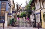 Iron gates to private street in Paris.