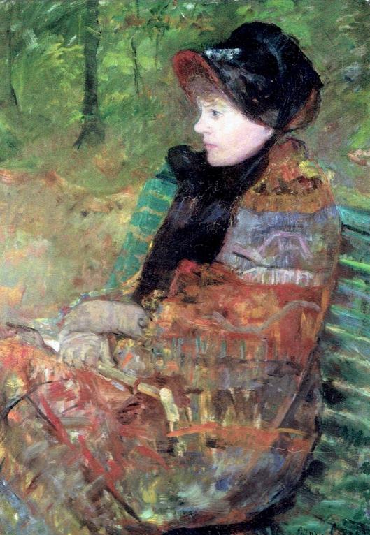 FranceSteps_Mlle Lydia Cassatt soeur de la'artiste ou l'Automne. 1880 Mary Cassatt (1844-1926)